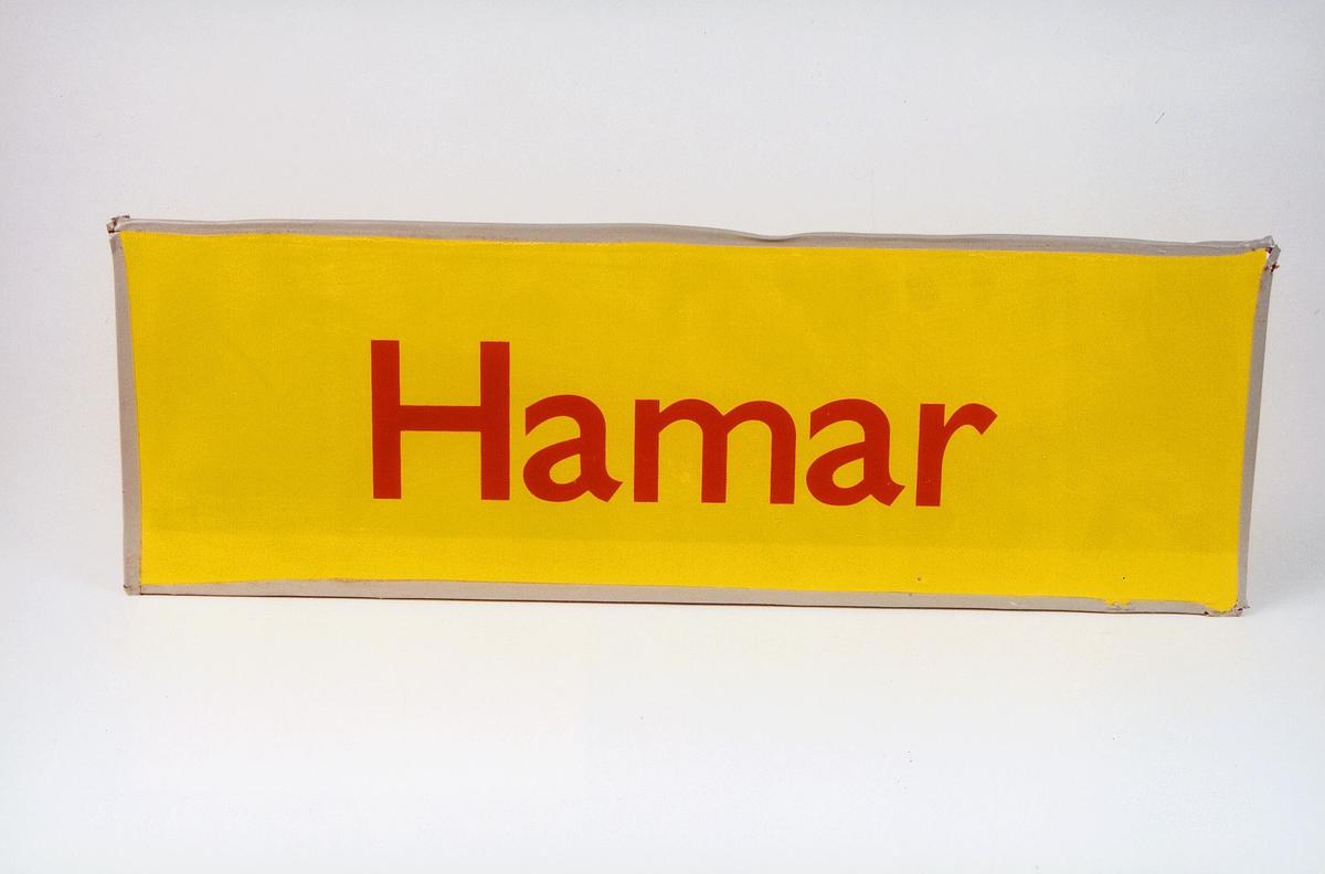 Postmuseet, gjenstander, skilt, stedskilt, stedsnavn, Hamar.