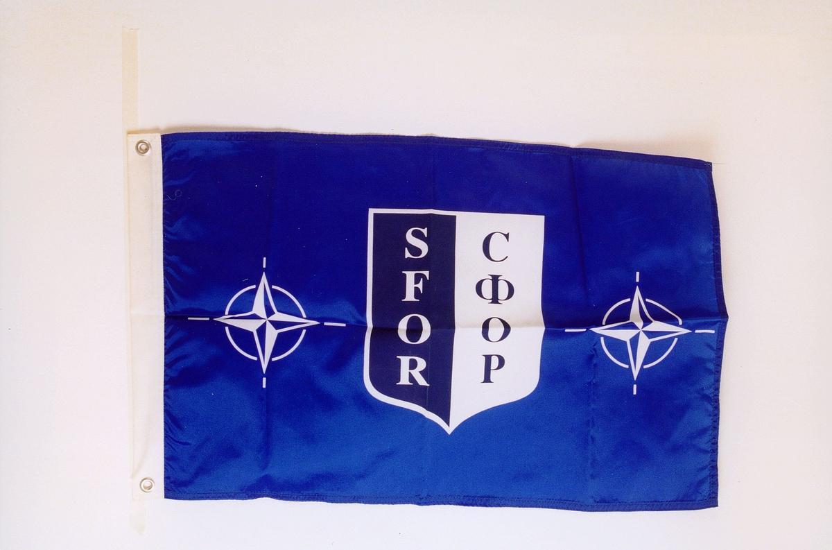 postmuseet, gjenstander, flagg, NATO-flagg, SFOR