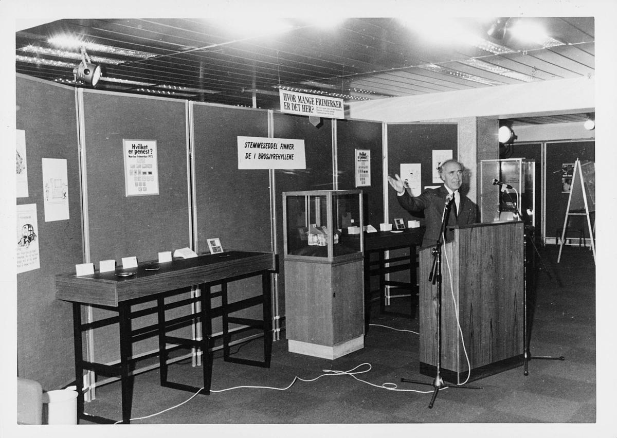 markedsseksjonen, verdenspostforeningen 100 år, filateli, frimerkestemming, Bjørn Storberget, holder tale