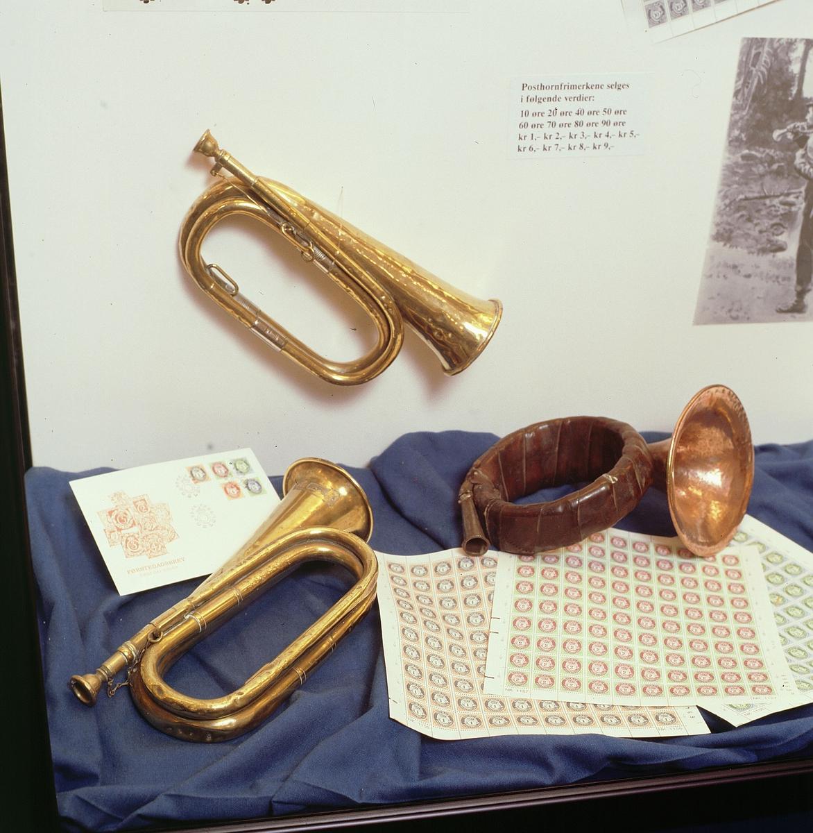 postmuseet, Kirkegata 20, utstilling, førstedagsbrev, posthorn, posthornfrimerker