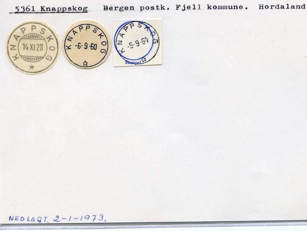 Stempelkatalog 5361 Knappskog, Bergen, Fjell,Hordaland