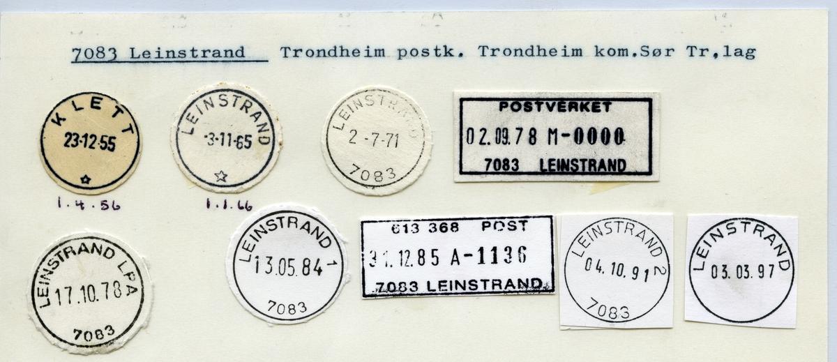 Stempelkatalog 7083 Leinstrand, Trondheim, Sør-Trøndelag