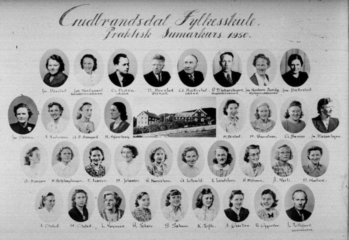 Ringebu. Gudbrandsdal fylkesskule. Praktisk sommerkurs 1950.