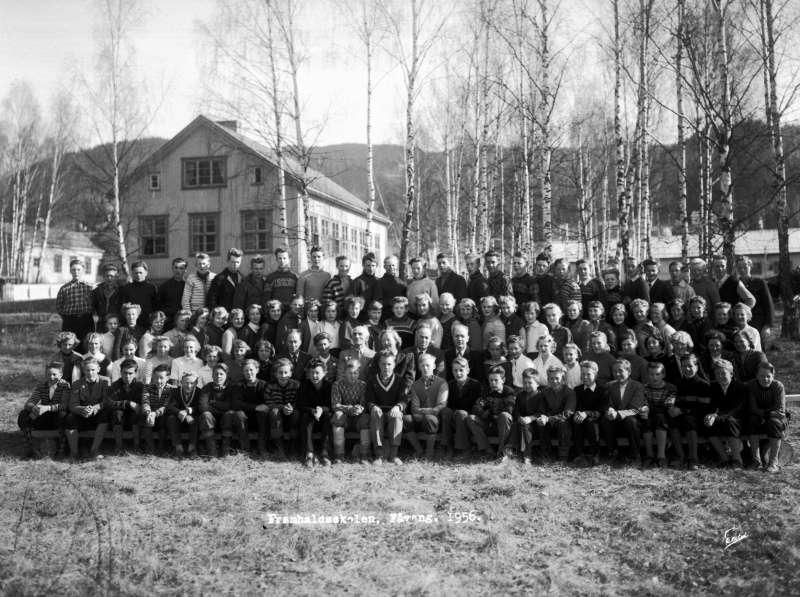 Fåvang framhaldsskole 1956.