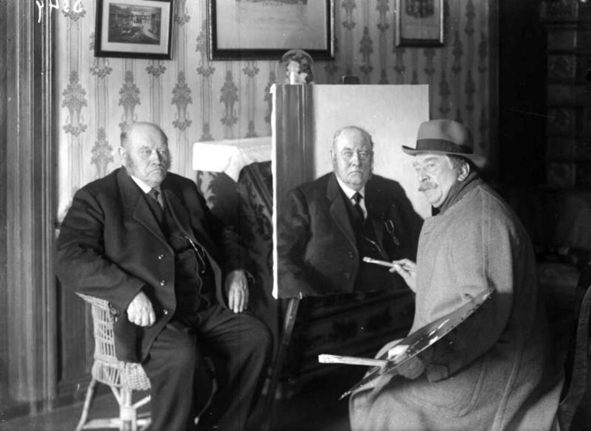 Ringebu. O.Chr. Elstad og maleren Eyolf Soot.