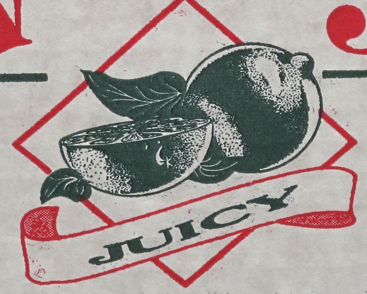 Varemerke  m.rødt hel og halv lime.