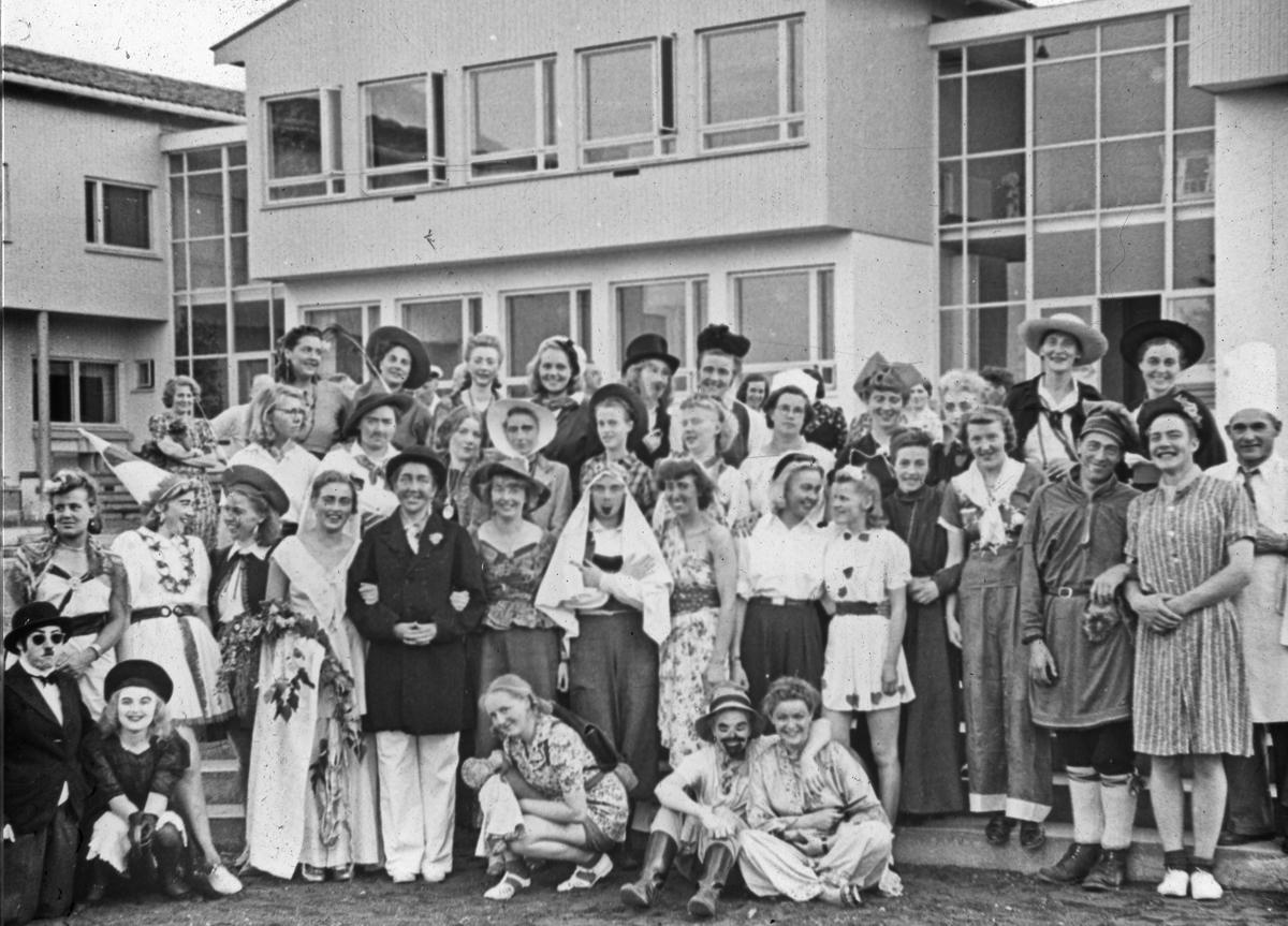 Karneval på Romerike Fylkes-/Folkehøyskole.