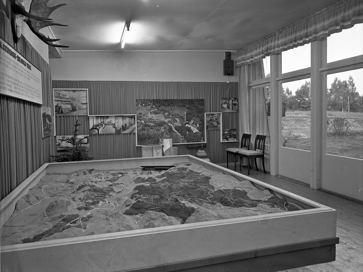 Fra Eidsvoll Bygdeutstilling i 1955. Om Bøhnsdalen papir.