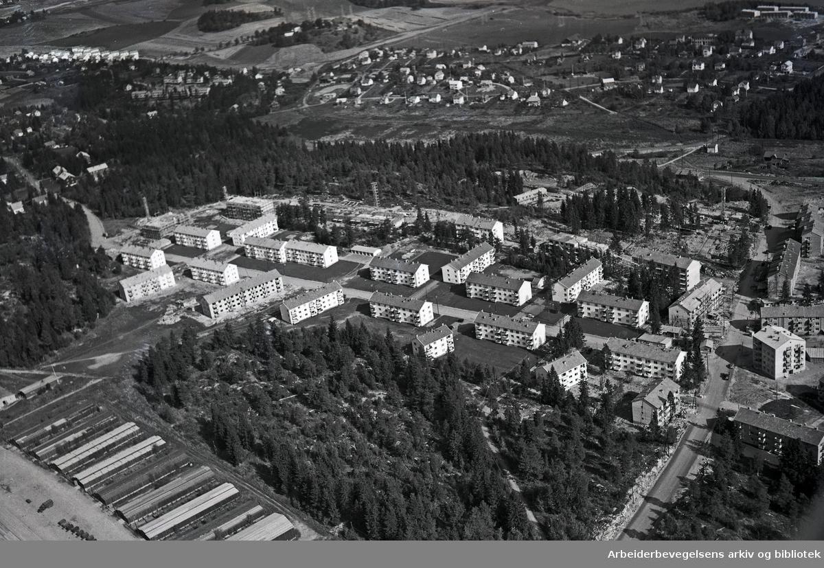 Flyfoto over Lambertseter,.oktober 1953