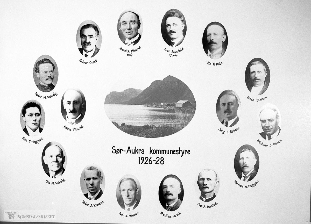 Kommunestyre, Sør-Aukra Kommunestyre 1926-1928.