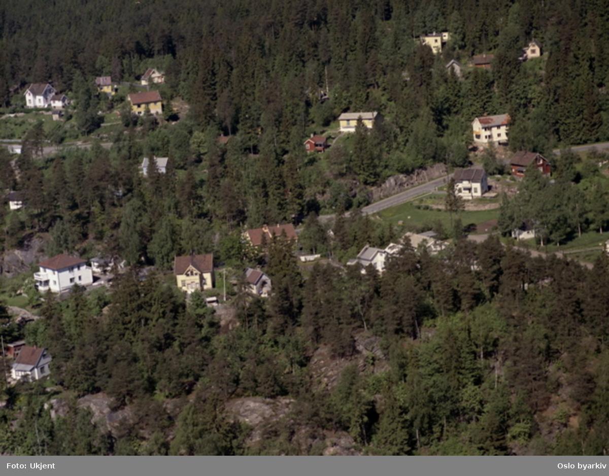 Alunsjøveien, parkenga, Gruvelia. (Flyfoto)