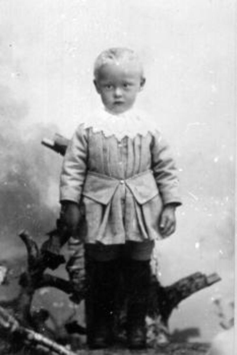Portrett av liten gutt, Kristian Ihle, Vesle-Ile, Furnes, Ringsaker.