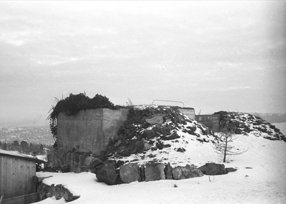 Kanonstilling på borgen på Trøndelag Folkemuseum