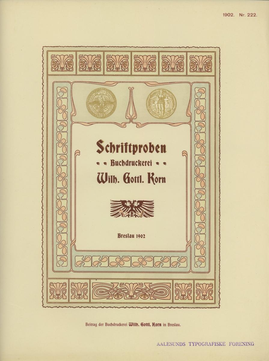 Muster - Austausch des deutschen Buchgewerbe - Dereins 1902 [Trykk]