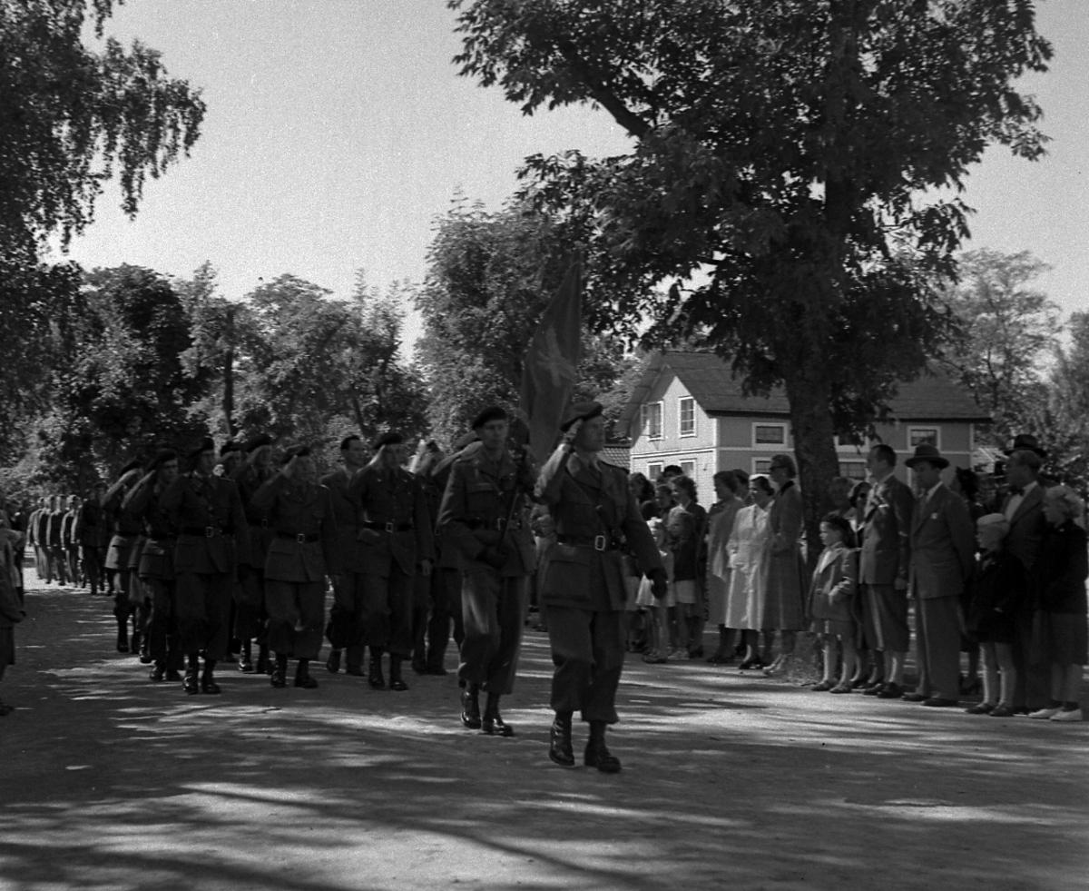 Fallskärmsjägarskolan i Karlsborg 1954.FJS-dag
