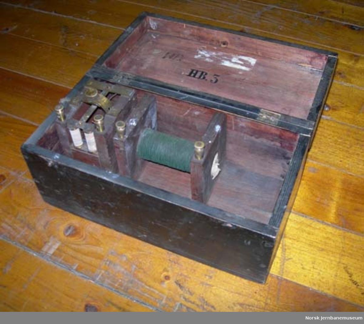 Øvelsesapparat for produksjon av strøm