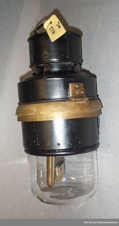 Kupélampe : fetoljelampe, rund type - for personvogn