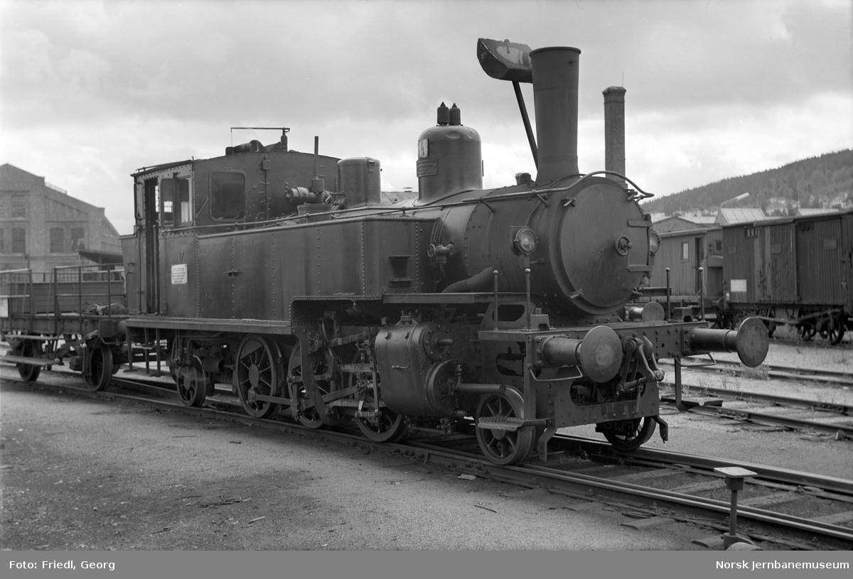 Damplokomotiv type 50a nr. 17 - opprinnelig Valdresbanen - på Verkstedet Sundland