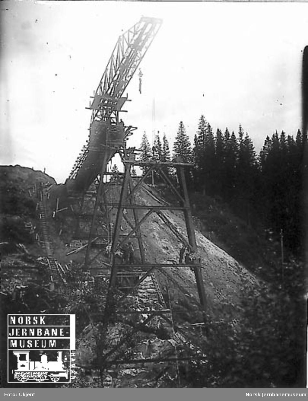 Grana bru : utsetting av første 21 meter-pillar