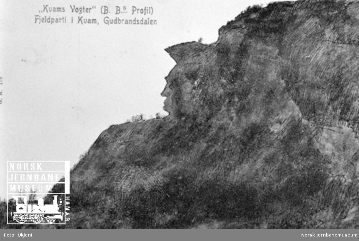 Bjørnstjerne Bjørnsons profil i fjellet i Kvam