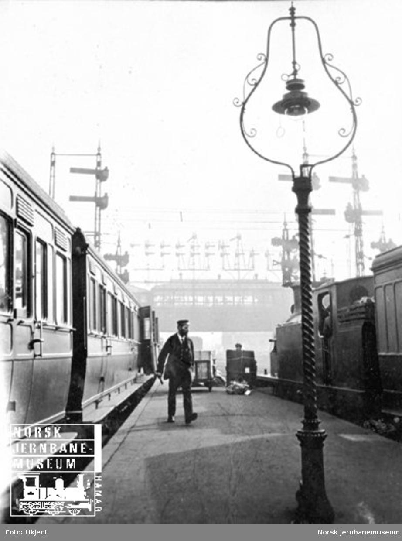 Plattformbilde fra ukjent britisk stasjon