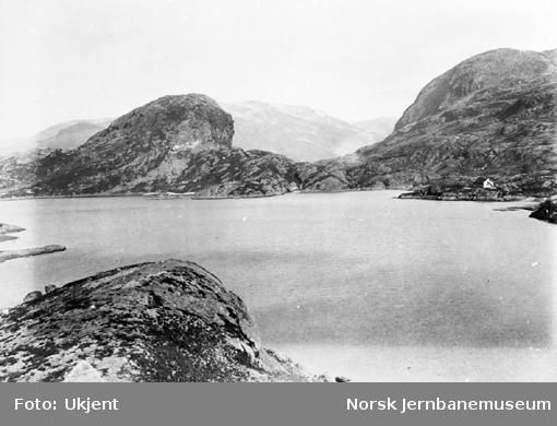 Bergensbanens anlegg; parti fra Klevevatnet