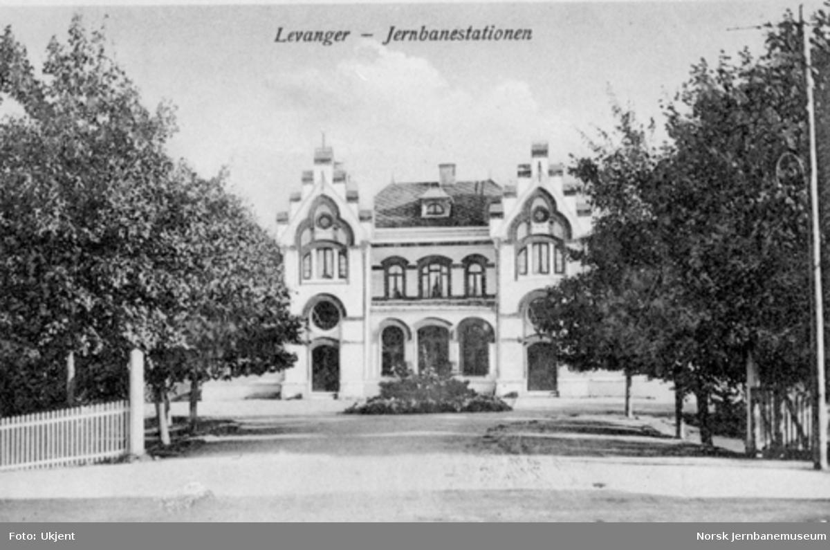 Levanger stasjonsbygning fra bysiden