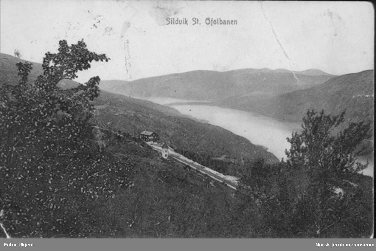 Oversiktsbilde med Rombak (Sildvik) stasjon