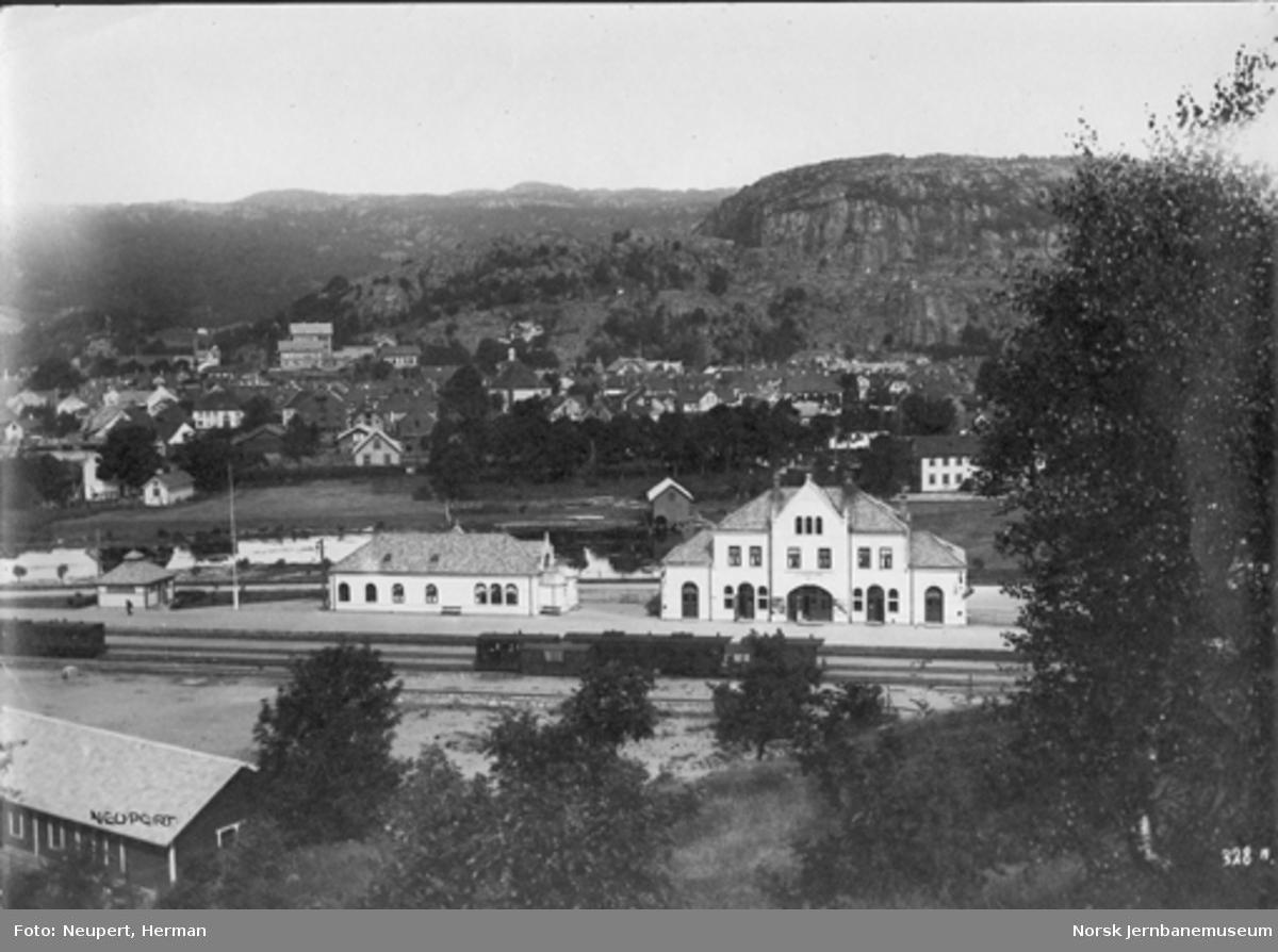 Flekkefjord stasjon, oversiktsbilde