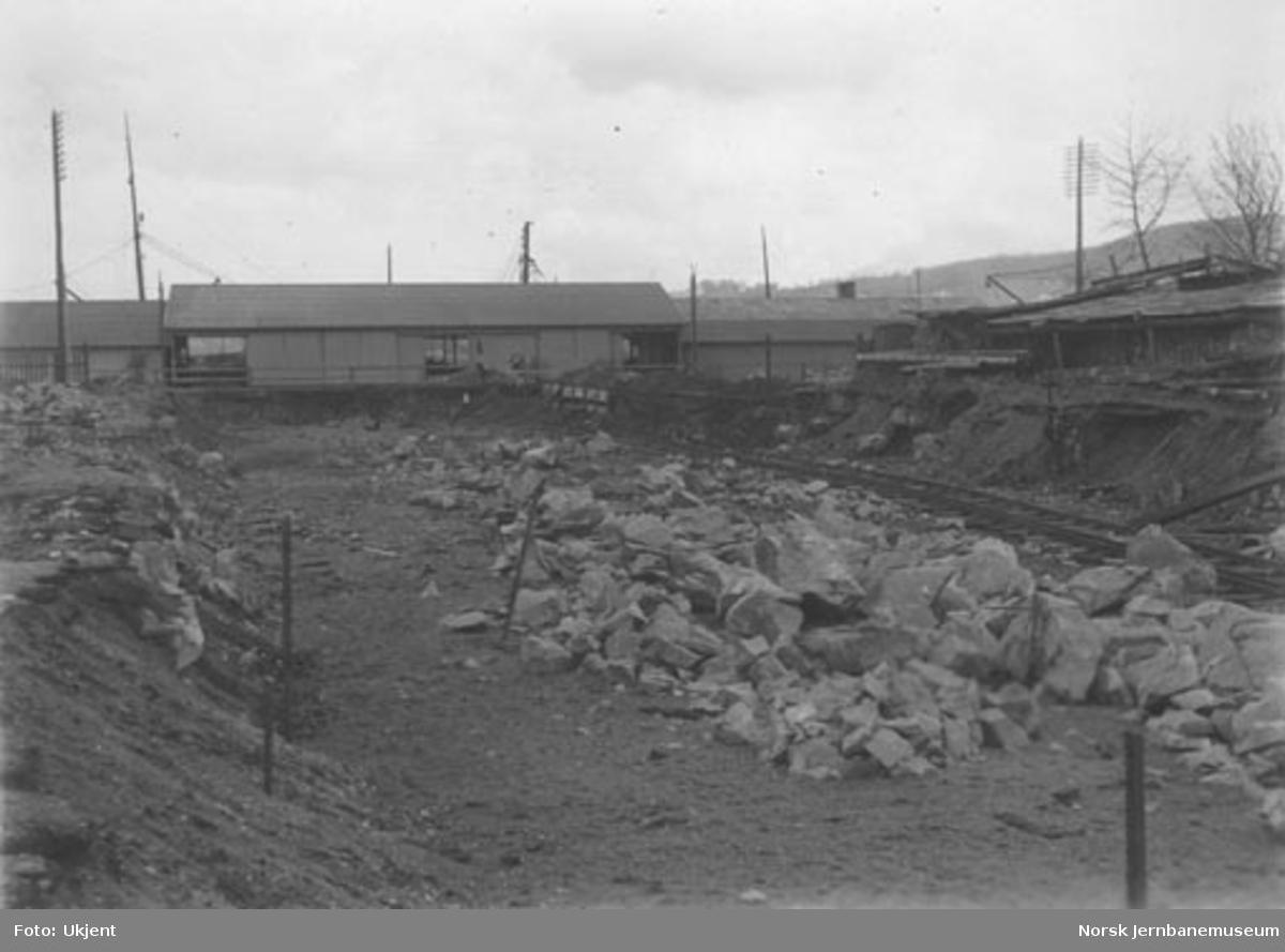 Anleggsarbeider ved Trondheim stasjon