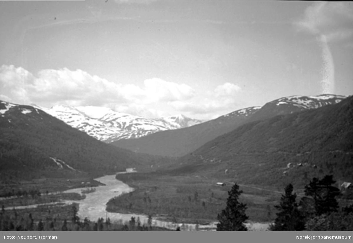 Utsikt fra Bergensbanen ved Mjølfjell