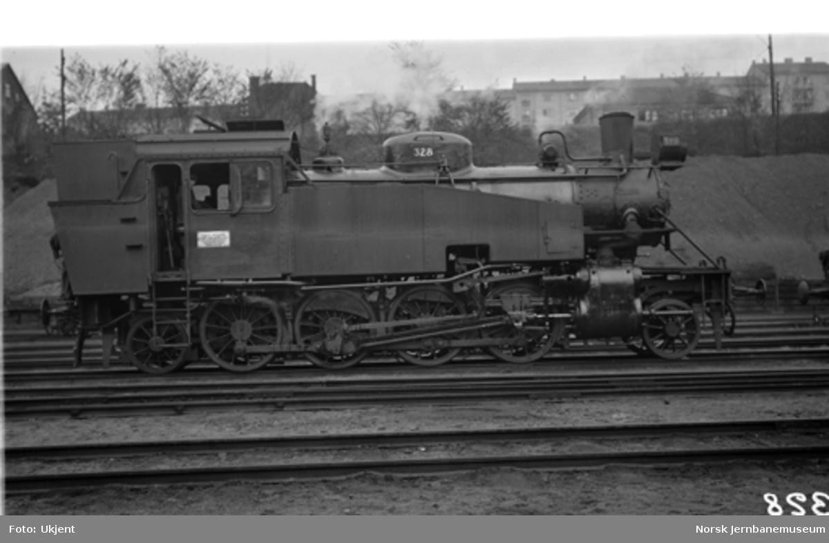 Damplokomotiv type 34a nr. 328 i Lodalen