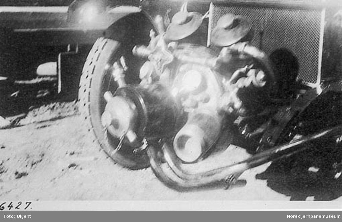 Motorsprøyte på brannbil til Akers Brandvæsen