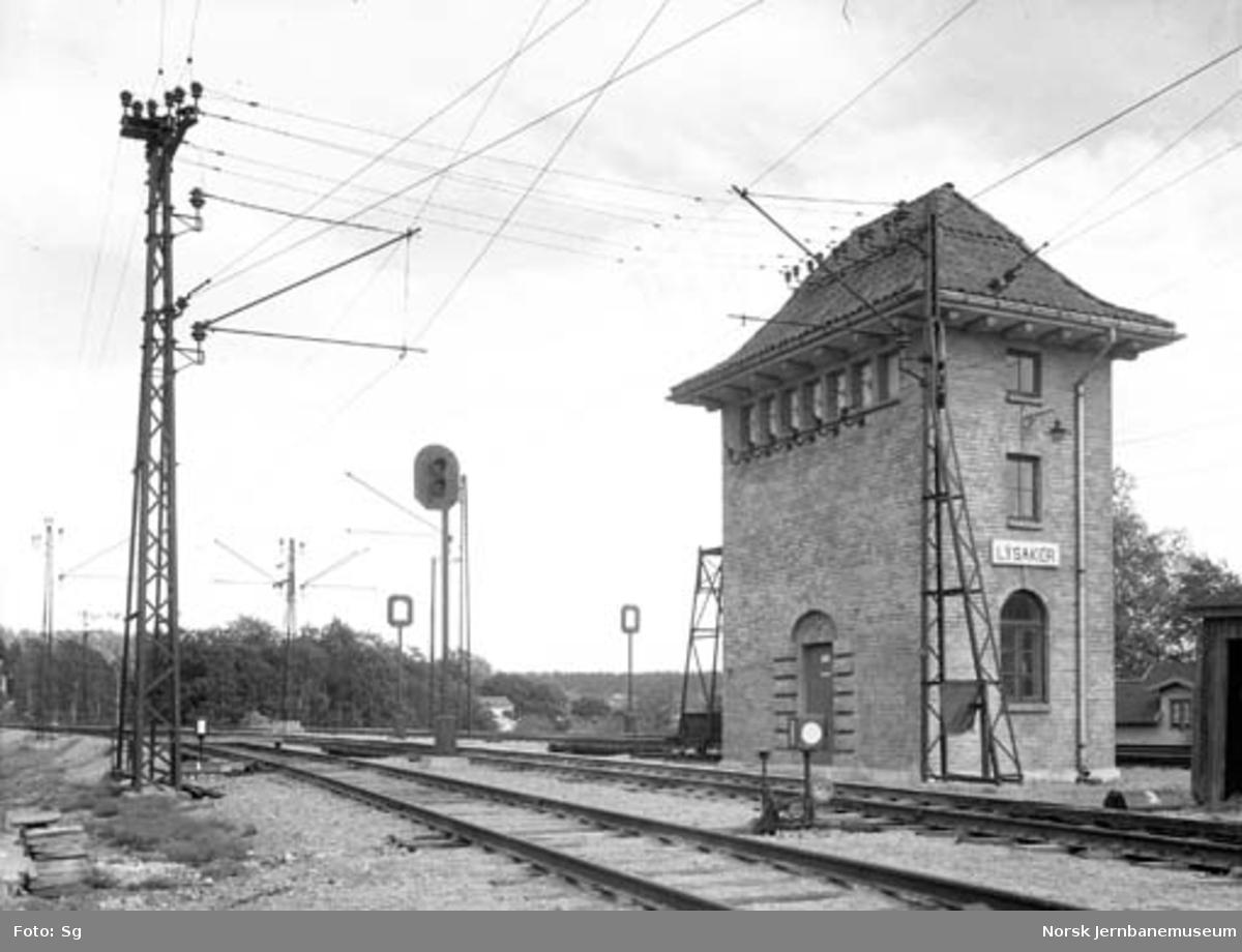 Drammenbanens elektrifisering : koblingshuset på Lysaker