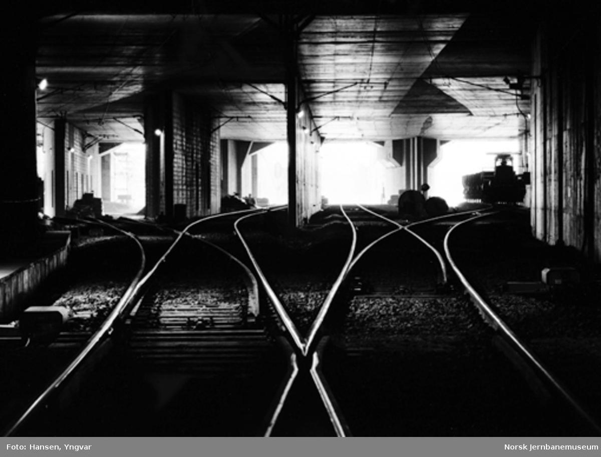 Oslotunnelen : sporforgreningen fra nordre tunnelspor mot Oslo S, før åpningen