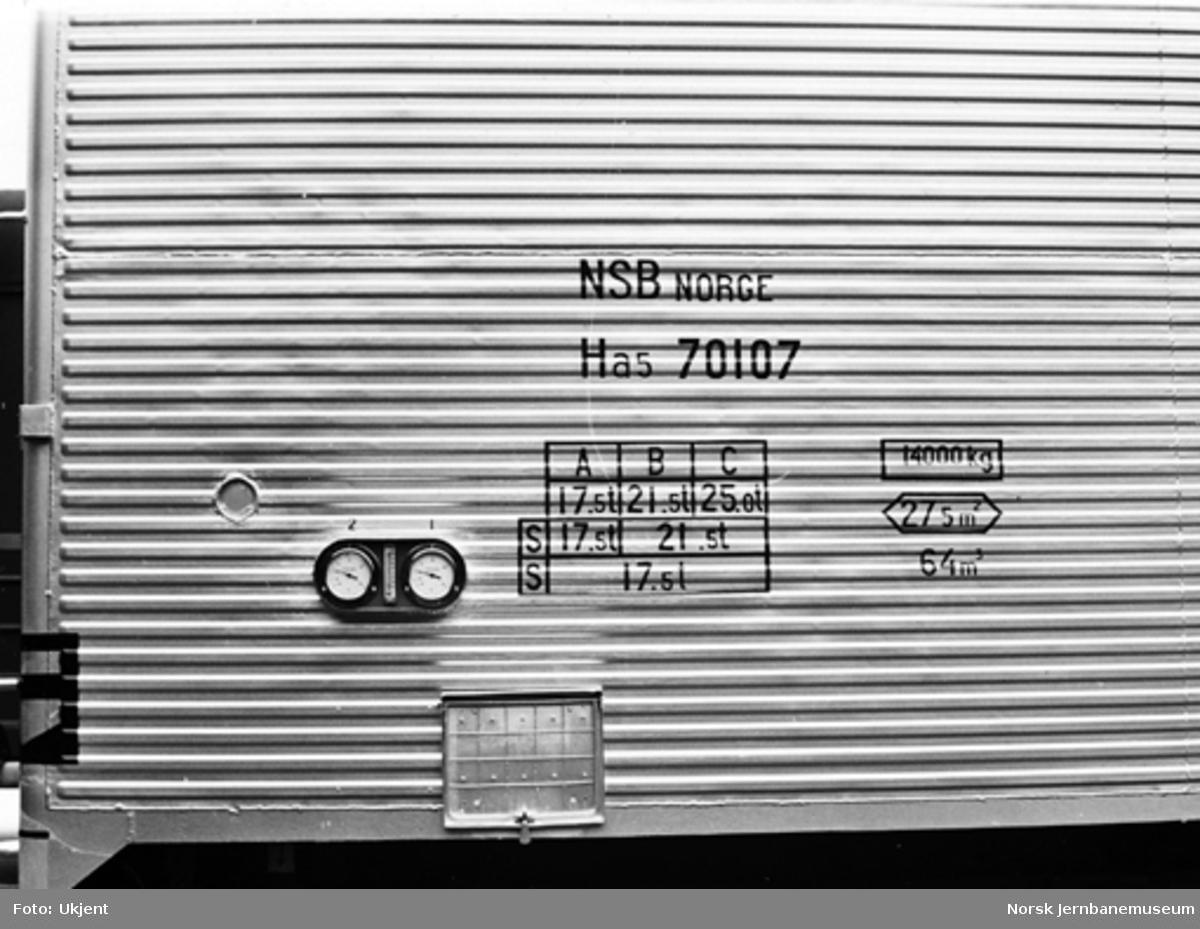 Ny kjøle- og varmevogn litra Ha5 nr. 70107