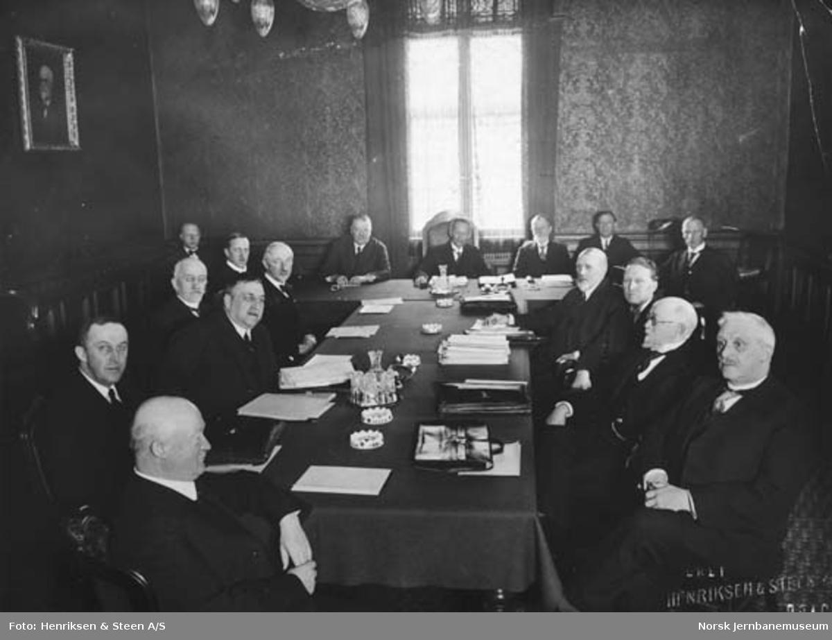 Møte mellom NSBs distriktssjefer i Oslo i 1931