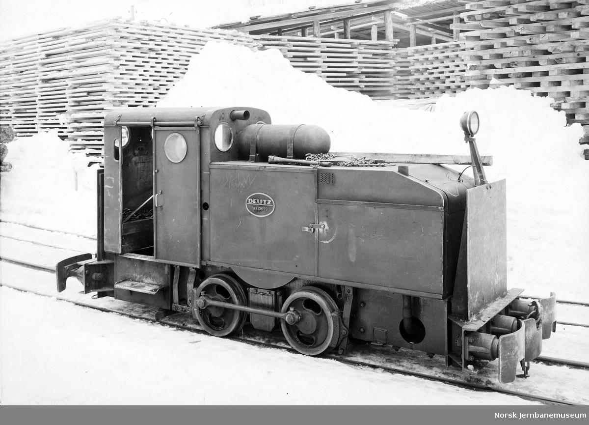 Tinfos Papirfabriks lokomotiv av fabrikat Deutz