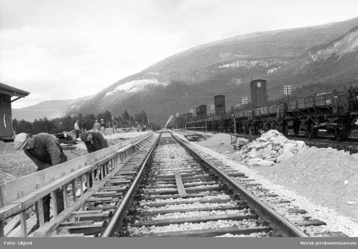 Røkland stasjon under bygging