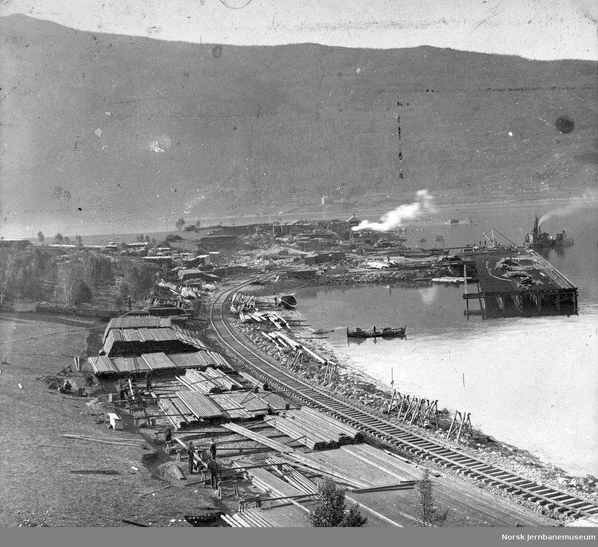Narvik havn (Fagernes), Ofotbanens km 0