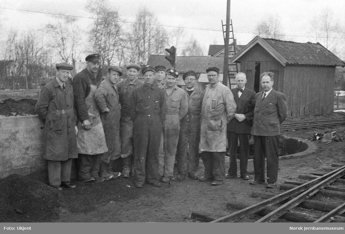Personale på Bjørkelangen stasjon