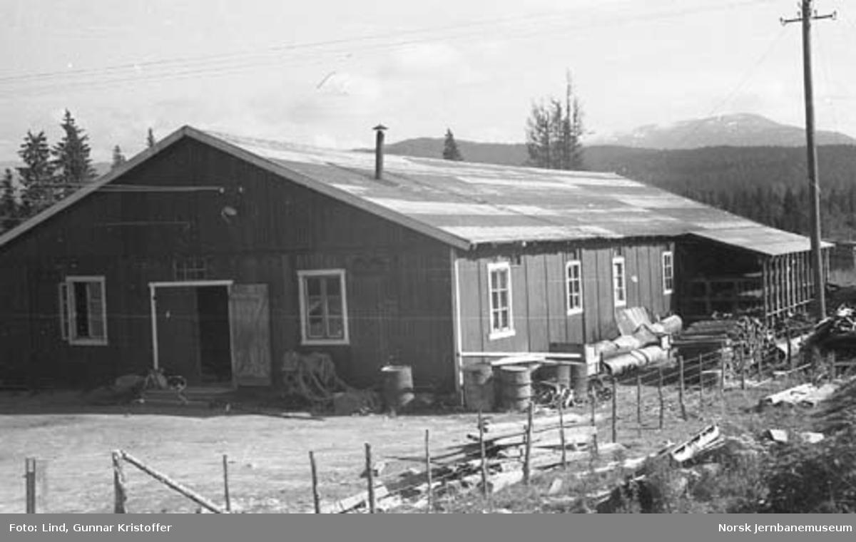 Nordlandsbaneanlegget : anleggets lager ved Grønfjelldal stasjon