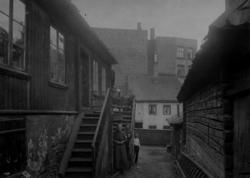 Hammersborg, Oslo. Gammel trehusbebyggelse.